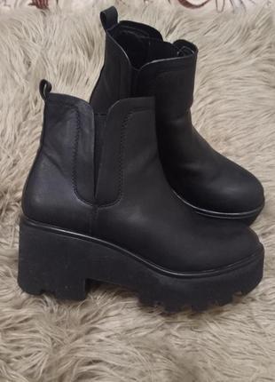 Ботинки челси на толстой подошве1