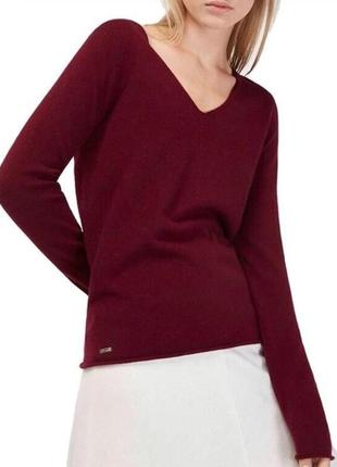 Кофта пуловер гольф водолазка бордо бордовая