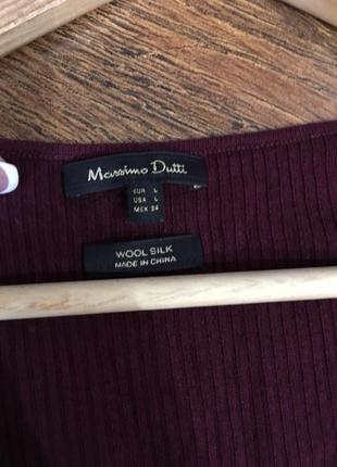 Кофта пуловер гольф водолазка бордо бордовая3
