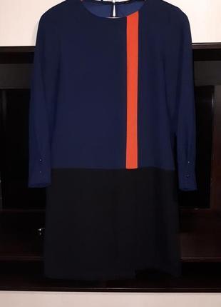 Шикарное платье  прямого  кроя с карманами zara раз.s1 фото