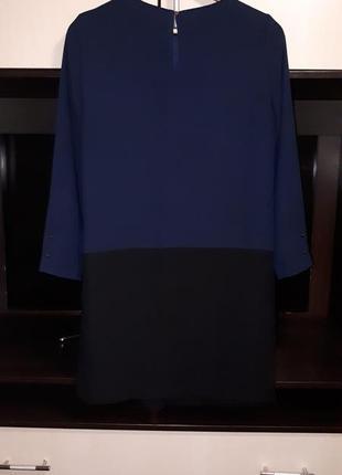 Шикарное платье  прямого  кроя с карманами zara раз.s2 фото