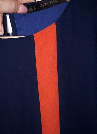 Шикарное платье  прямого  кроя с карманами zara раз.s3 фото