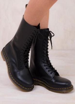 Ботинки кожаные dr. martens 1914 black4