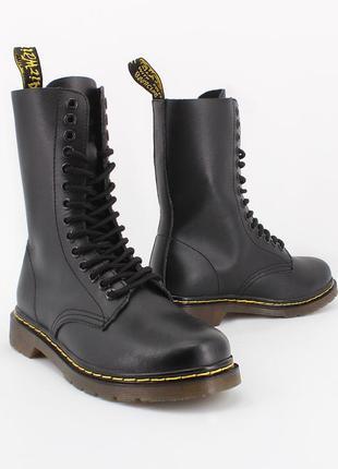 Ботинки кожаные dr. martens 1914 black1