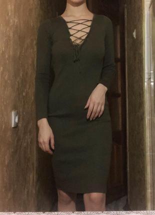 Платье со шнуровкой2