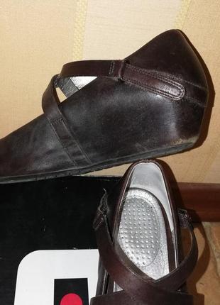 Tsubo туфли кожа шоколад3 фото