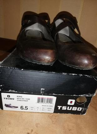 Tsubo туфли кожа шоколад4 фото