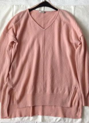 Шерстяной комфортный свитер. xl(пог-65). кашемир & шерсть.1
