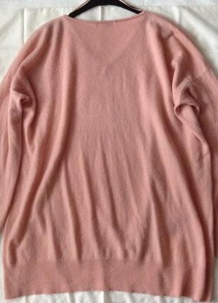 Шерстяной комфортный свитер. xl(пог-65). кашемир & шерсть.4