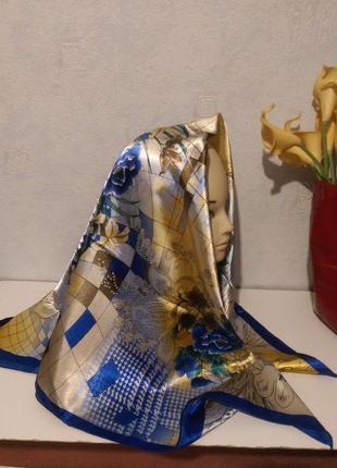 Яркий платок,полиэстер, la vista,номерной,90*90см2 фото