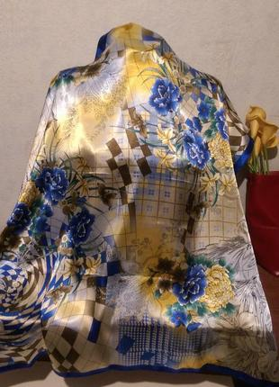 Яркий платок,полиэстер, la vista,номерной,90*90см3 фото