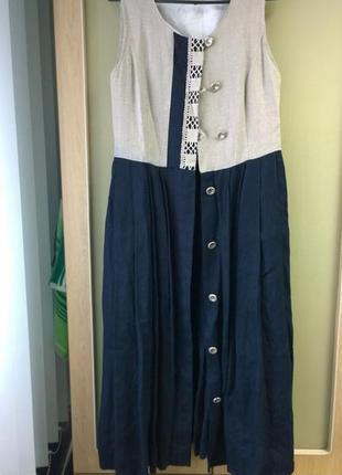Платье жилет из 100% льна2