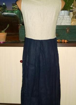 Платье жилет из 100% льна3