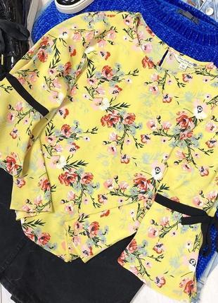 Блуза в цветочный принт2