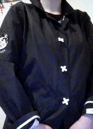 Оригинальная куртка дождевик drop dead непромокаемая (бренд оливера сайкса) интересная3 фото
