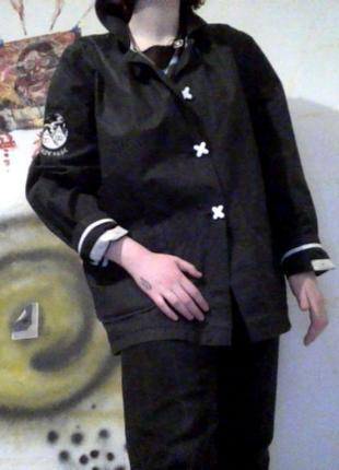 Оригинальная куртка дождевик drop dead непромокаемая (бренд оливера сайкса) интересная1 фото