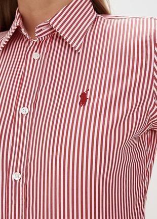 Красивая рубашка в полоску ralph lauren!!!!!
