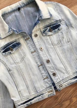 Куртка котонка vila m джинсовый пиджак женский4