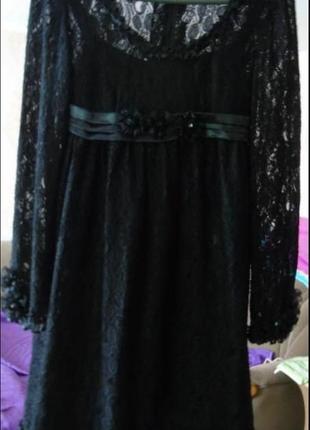 Наряднон гипюровое платье р xs-s