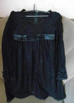 Наряднон гипюровое платье р xs-s3 фото