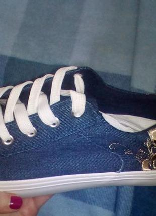 Кеды джинсовые1 фото