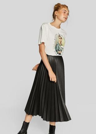 Плиссированная юбка/юбка миди/юбка солнце stradivarius