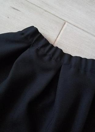 Базовая юбка солнце клеш со складками с высокой талией на замочке р. xs s3