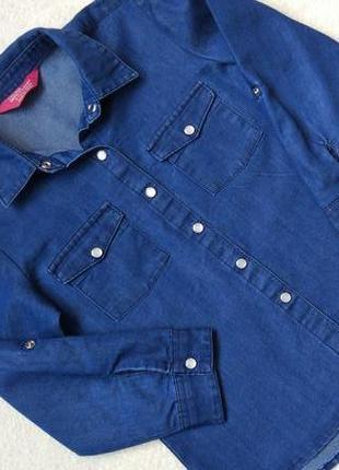 Big sale! стильная джинсовая рубашка young dimensions на 6-7 лет