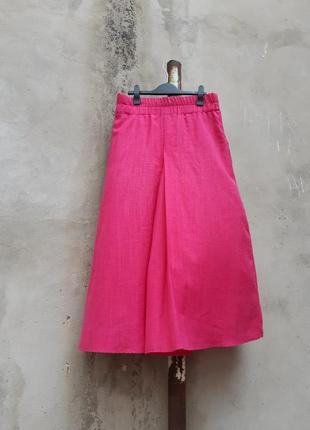 Юбка-брюки цвета фуксия3