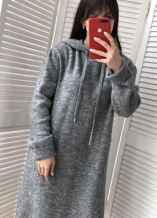 Стильное модное теплое платье3