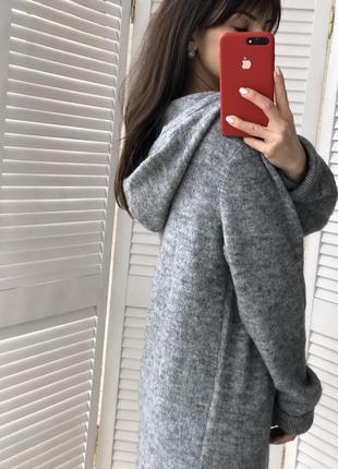 Стильное модное теплое платье5