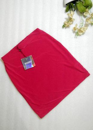 Яркая молодежная короткая мини юбка спідниця цвета фуксия от missguided размер s4