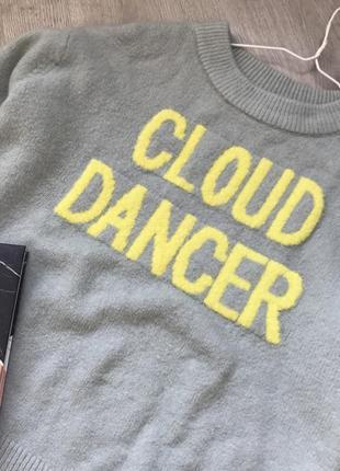 Стильный теплый свитер с надписью2