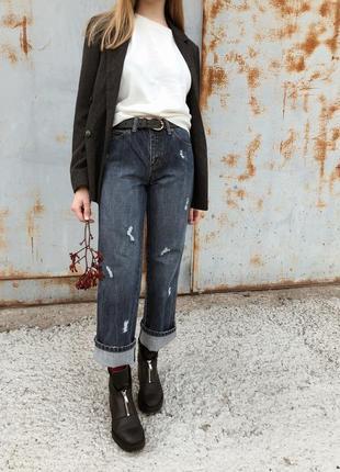 Синее мом джинсы/свободные джинсы/джинсы клёш s.oliver