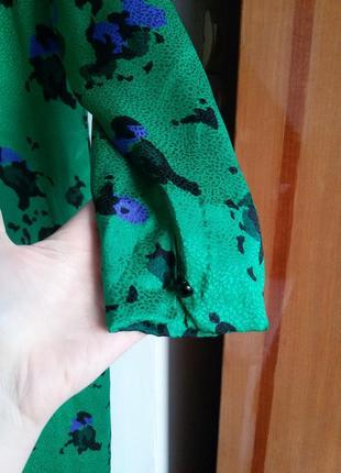 Роскошное шелковое платье akris винтаж 100% шелк3
