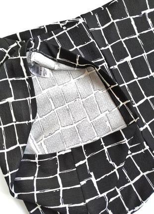 Чёрно-белое платье футляр в клетку dorothy perkins9 фото