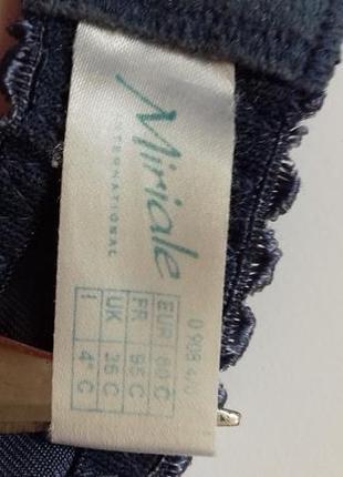 Красивий бюстгалтер з вишивкою miriale  франція , 80c/80с5 фото