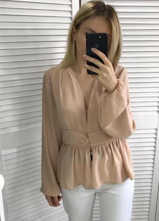 Чарівна персикова блуза2 фото