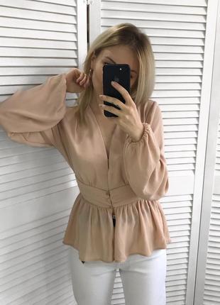 Чарівна персикова блуза3 фото