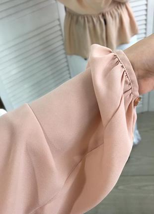 Чарівна персикова блуза5 фото