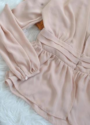 Чарівна персикова блуза6 фото