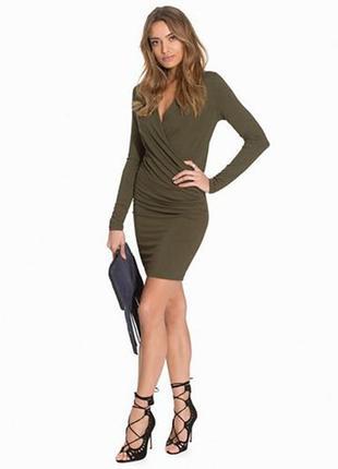 Трикотажное платье vila3