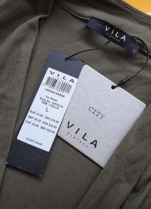Трикотажное платье vila4