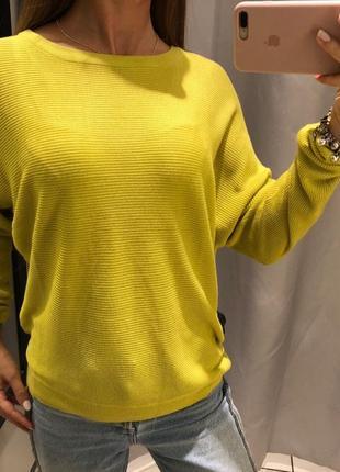Салатовый свитер свободного кроя широкий свитерок reserved есть размеры1 фото