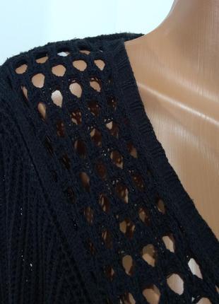 Черная вязаная накидка  кардиган ann marie размер 423
