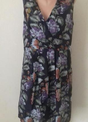 Натуральное шелковое платье с принтом laura ashley1