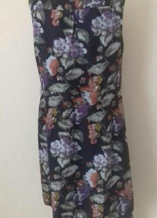 Натуральное шелковое платье с принтом laura ashley3