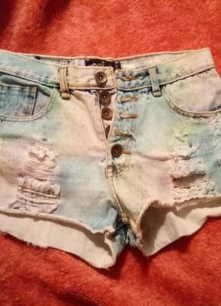 Шортики джинсовые цветные1
