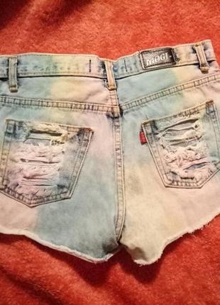 Шортики джинсовые цветные2