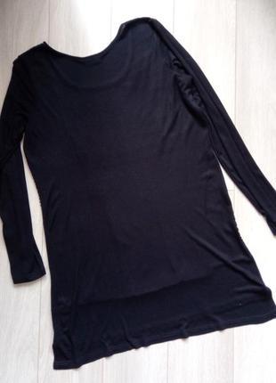 Черное, чёрно-белые платье длинный рукав, принт - геометрия, трикотажное тонкое2